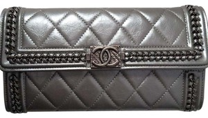 Chanel Limited Edition Chanel Boy Flap Clutch/Wallet in Lambskin Leather