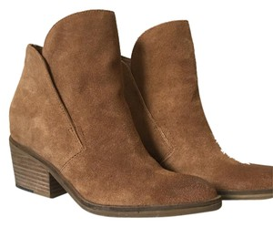 Dolce Vita Stacked Heel Comfortable Leather Saddle Suede (tan) Boots