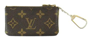Louis Vuitton Vintage Pochette Cles Monogram Canvas Leather Credit Coin Purse