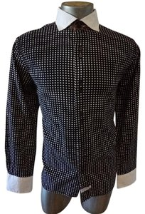 English Laundry Polka Dot Button Down Shirt black
