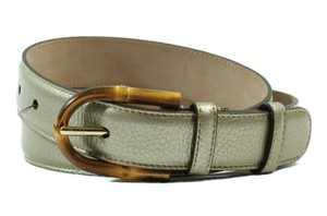 Gucci GUCCI 322954 Bamboo Buckle Leather Belt, Golden Beige 80-32