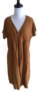 Silk and Soie short dress Copper Shift Brown on Tradesy