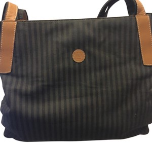 Fendi Black and Grey Messenger Bag