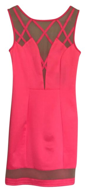 Item - Neon Pink Mini Night Out Dress Size 4 (S)