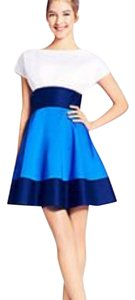 Kate spade Fiorella colorblock size 4 short dress blue and white on Tradesy