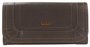 Chloé Brown Long Wallet