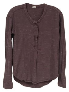 Anthropologie Top Brown, Purple, White