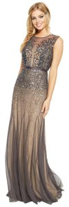 Adrianna Papell Beaded Illusion Mesh Dress