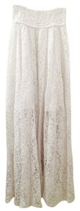 Abercrombie & Fitch Lace Maxi Skirt White