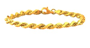 Other ** NWT ** 14K YELLOW GOLD ROPE BRACELET / 8