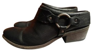 Frye Leather 9m Black Mules
