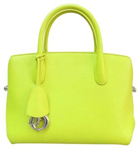 Dior Open Leather Bar Tote in yellow