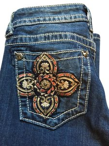 Buckle Straight Leg Jeans-Medium Wash