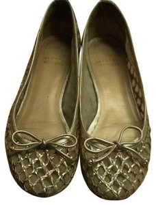 Stuart Weitzman Leather Gold Ballerina Light gold Flats