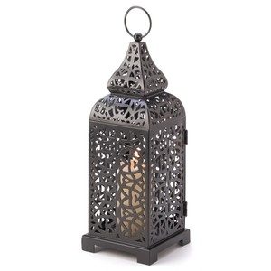 10 New Tall Black Brown Moroccan Lanterns Candle Holders Bohemian