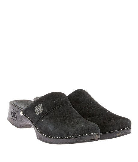 Chanel Suede Black Mules