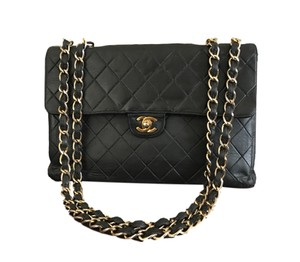 Chanel Maxi Caviar Double Boy Medium Shoulder Bag