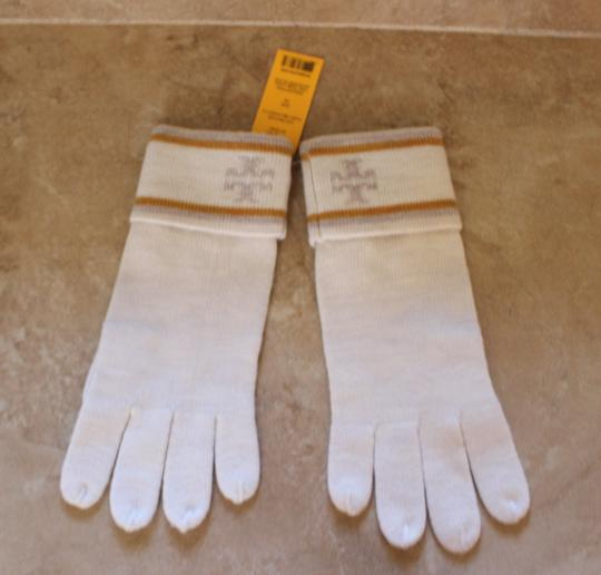 Tory Burch Tory Burch Light Gray wool gloves with logo at sides