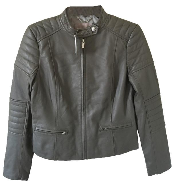 Item - Gray Quilted Moto Jacket Size 8 (M)