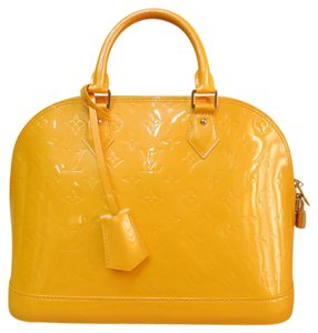 Louis Vuitton Lv Alma Pm Goldenrod Vernis Tote in yellow