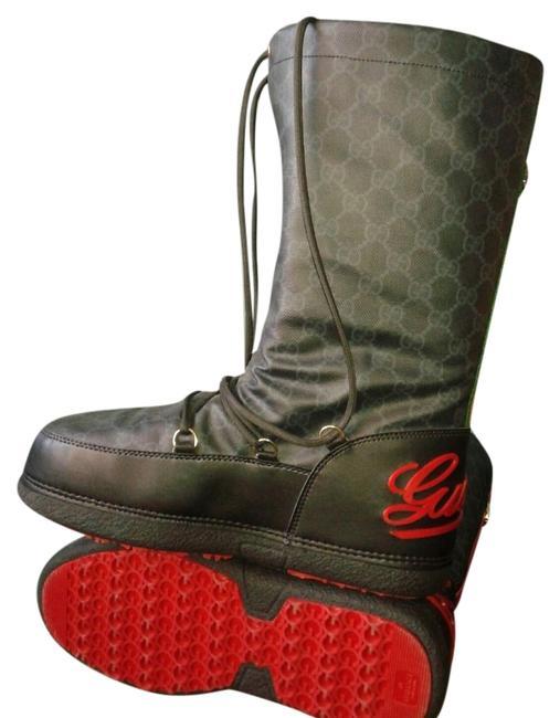 Item - Black & Red Boots/Booties Size US 10 Regular (M, B)