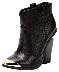 Dolce Vita Cowboy Rocker Leather Heel Black Boots