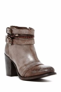 FreeBird Lion Ankle Western Belted Chap Taupe Gray Boots