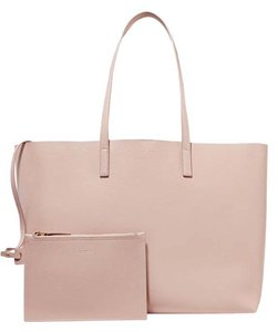 Saint Laurent Leather Black Tote in blush