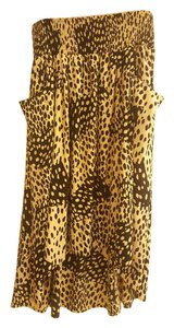 DKNY Maxi Skirt Black, brown, animal print