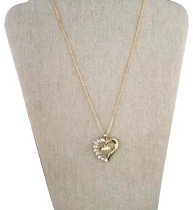 Independent Clothing Co. Gold Plated Mom Heart Pendant necklace with glass stones