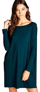 Cherish short dress Hunter Green Tunic Tunic Off Shoulder Piko Piko Tunic on Tradesy
