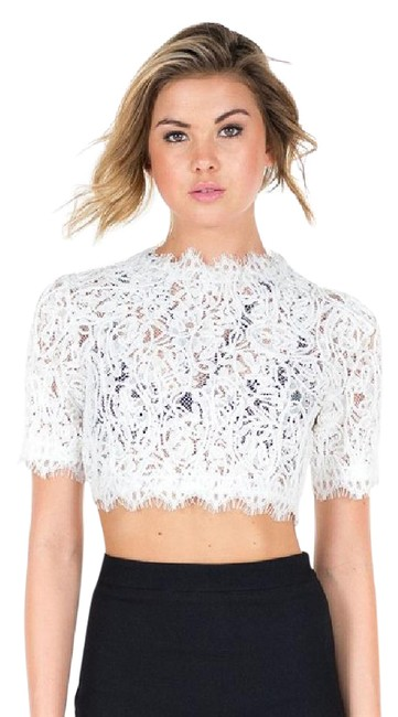 Item - Lace Crop White Top