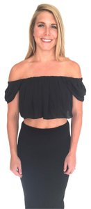 Olivaceous Off Crop Crop Off Crop Black Crop Top