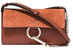 Chloé Chloe Mini Faye Faye Suede Leather Shoulder Bag