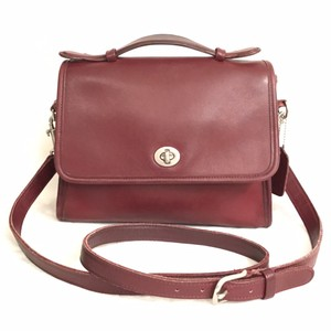 Coach Leather Vintage Rare Vintage Cross Body Satchel in Ox Blood Red (Brownish Red)