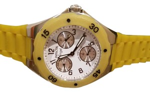 Invicta Invicta 700 Womens Angel Collection Yellow Multi-Function Rubber Watch