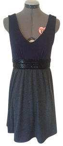 Ella Moss short dress Grey and Blue Sequin V Neck Cotton Sleeveless on Tradesy