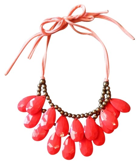 Other Coral Statement Bauble Necklace
