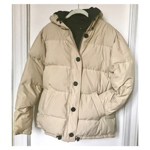 Tommy Hilfiger Reversible Black Cream Coat