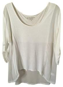 Nine West Pullover Shirt Top Off white