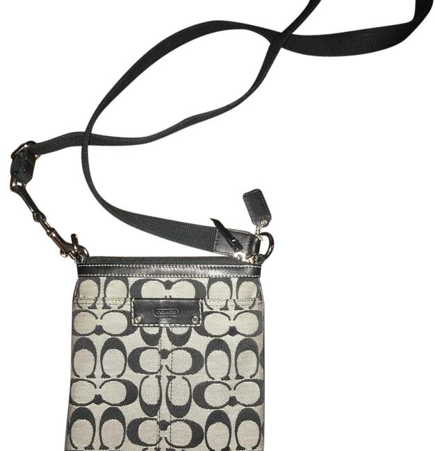 Item - Black and Gray Cotton Cross Body Bag