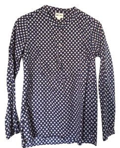 J.Crew Polka Dots Crewcuts Top Blue dotted cotton tunic size 16 kids