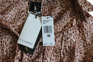 Just Cavalli Button Down Shirt Leopard/ gold shimmer