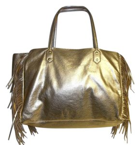 Sam Edelman Large New Payton Leather Tote in metallic gold