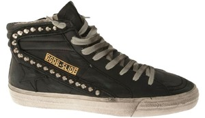Golden Goose Deluxe Brand Black Leather with Studs Flats