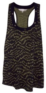 Trina Turk Top Green/Black (Distorted Camo)