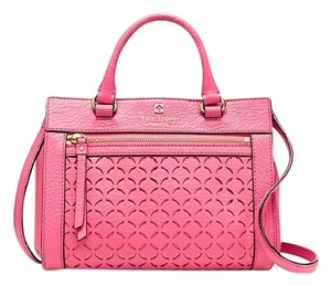 Kate Spade Mini Romy Leather Crossbody Pink Satchel in CABERET PINK
