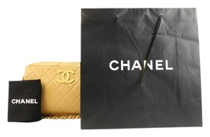 Chanel Quilted Caviar Tan Classic Shoulder Bag
