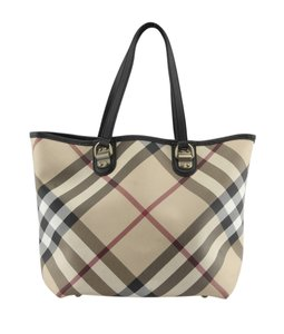 Burberry Canvas Black Tote in Multi-Color,Black