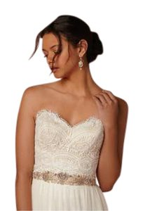 BHLDN Bhldn Kinsey Corset And Anika Tulle Skirt Wedding Dress